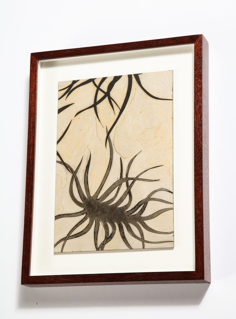 Framed Oil Painting on Board by Sara Skaaning, Denmark 2011 In Good Condition For Sale In New York, NY