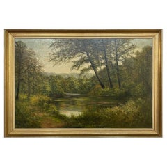 Framed Oil Painting on Canvas by Adolphe Poot
