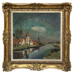 Framed Oil Painting on Canvas by G. Vantieghem