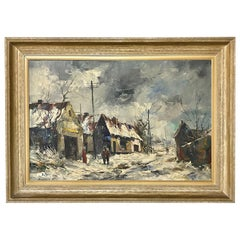 Framed Oil Painting on Canvas by H. Peree