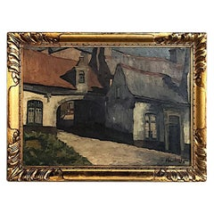 Framed Oil Painting on Canvas by J. Henrotte, circa 1926