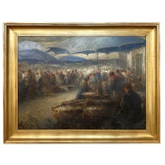 Framed Oil Painting on Canvas by J. Horenbant
