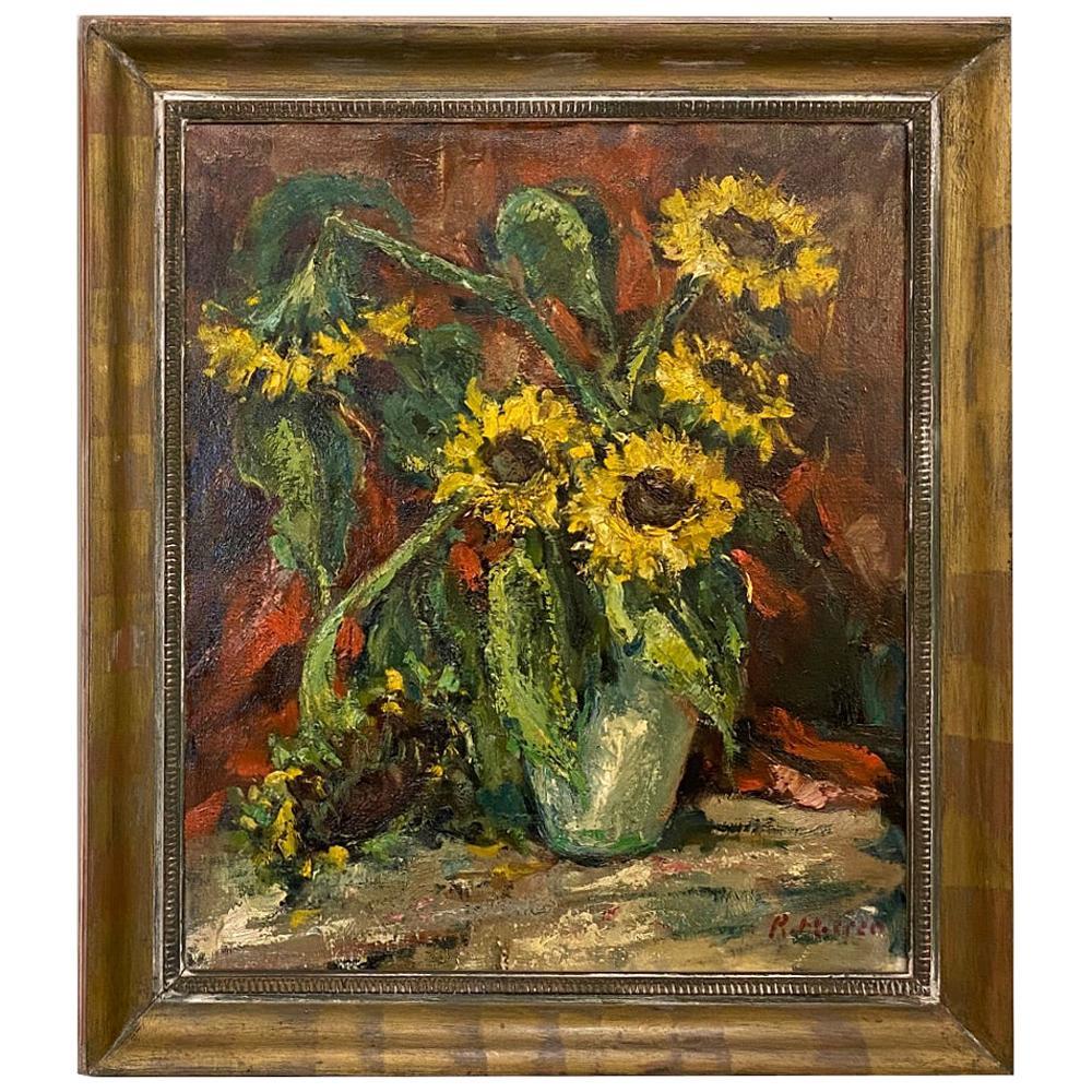 Framed Oil Painting on Canvas by Rene Morren, 1900-1971