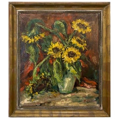 Framed Oil Painting on Canvas by Rene Morren, 1900-1971