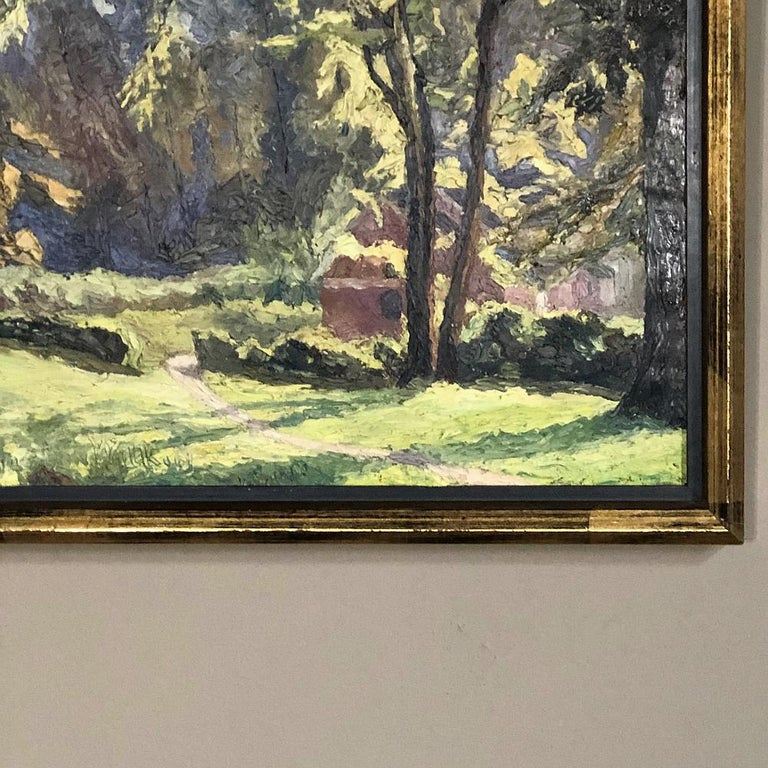 Framed Oil Painting on Canvas, circa Early 1900s In Good Condition For Sale In Dallas, TX