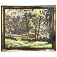 Framed Oil Painting on Canvas, circa Early 1900s
