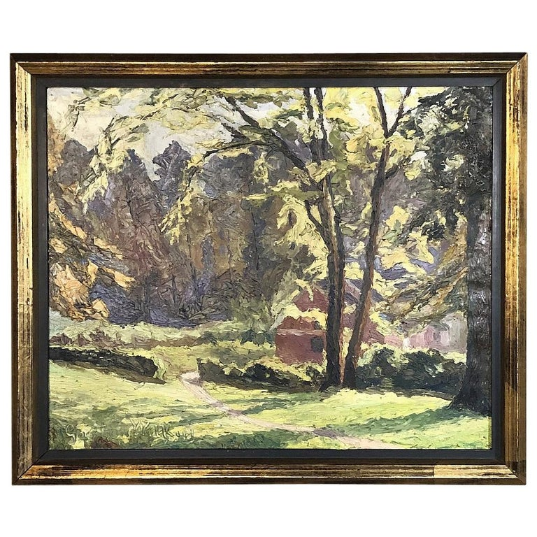 Framed Oil Painting on Canvas, circa Early 1900s For Sale