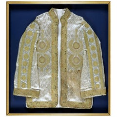 Framed Ottoman Coat with Metallic Thread Embroidery