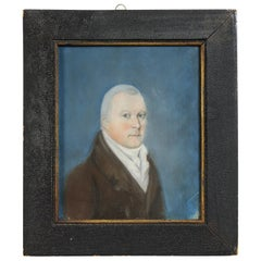 Framed Pastel Portrait of a Gentleman