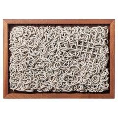 Framed Porcelain ceramic 'Excavation'  by Taylor Kibby