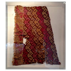 Framed Pre-Columbian Textile Fragment from Chancay Culture