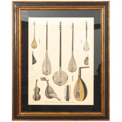 Framed Print Antique Musical Instruments of Egypt