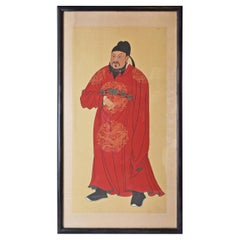 Framed Print of Chinese Gentleman in Red