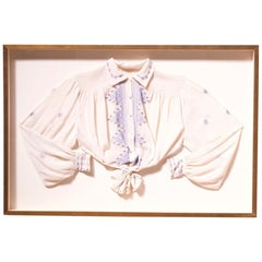 Framed Scandinavian Traditional Embroidered Blouse