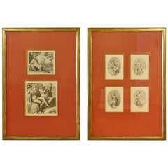 Framed Set of 18th Century Classical Engravings