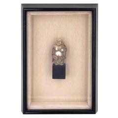 Framed Shadow Box Resin Buddha Figurine