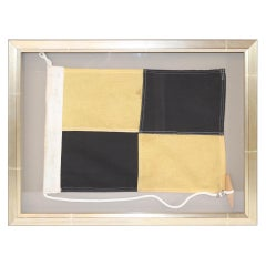 Framed Ships Signal Flag of Letter L