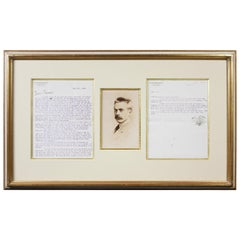 Framed Signed Typed Letter from Stanford White to Frederick MacMonnies