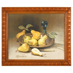 Framed Still Life Color Print by Alexandre Francois Bonnardel, France, 1920s