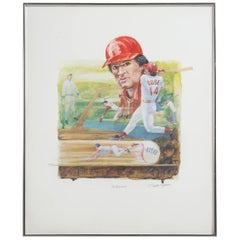 """Framed """"The Record"""" Pete Rose Autographed Print"""
