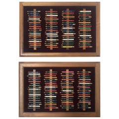 Framed Vintage Golf Pencil Collection Display 'Set of 2'