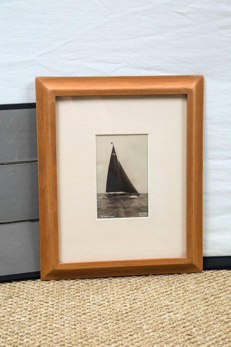 Framed vintage maritime photograph