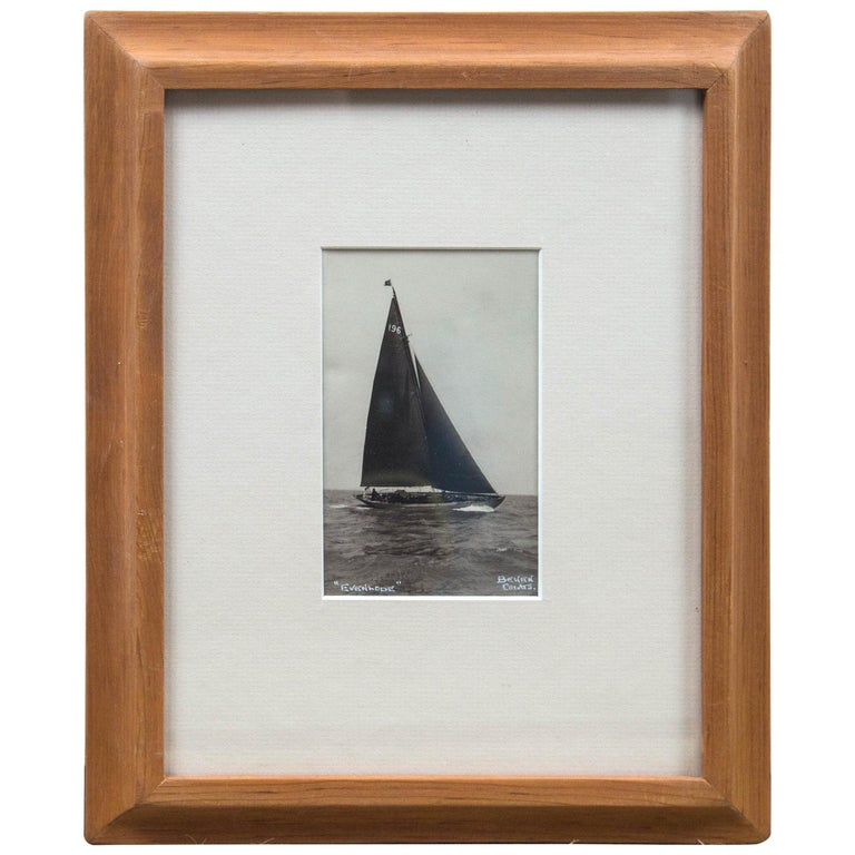 "Framed Vintage Photograph ""Evenlode"", Beken of Cowes, England, circa 1930s For Sale"