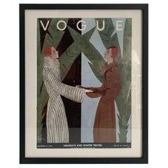 Framed Vogue Cover December 1931 Issue