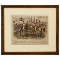 Framed Watercolor by John Leech, circa 1850