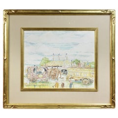 Framed Watercolor by Reynolds Beal