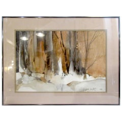Framed Watercolor Painting Signed by Artist Patricia Davis-Ganek