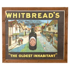 Framed Whitbread's Oldest Inhabitant Picture, 20th Century