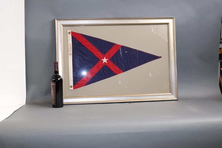 Cotton Framed Yacht Club Burgee For Sale