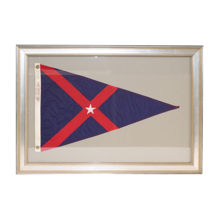 Framed Yacht Club Burgee For Sale