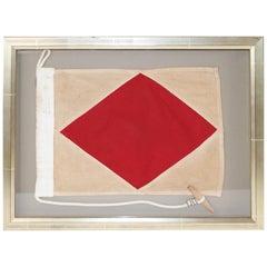 Frames Maritime Signal Flag of Letter F