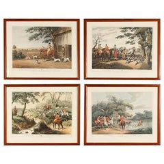 Frames with Prints of Hunting Scenes, England, 20th Century