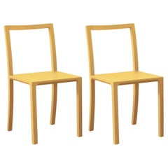 Framework Set of 2 Dark Yellow Chairs by Steffen Kehrle