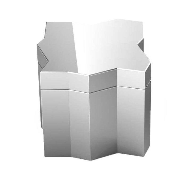 Frammenti Small Box in Aluminium with Mirror Finish, Borromeo De Silva for Driad For Sale