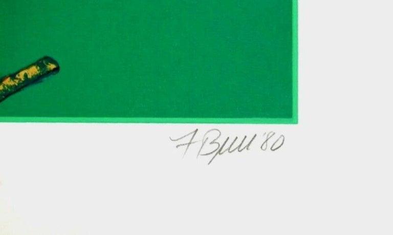 Two Storks, 1980 Limited Edition Silkscreen, Fran Bull - Photorealist Print by Fran Bull