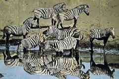 Zebras, 1979 Limited Edition Silkscreen, Fran Bull