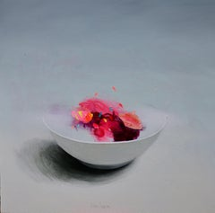 Bowl with Yellow - Contemporary Still Life by Spanish Artist Fran Mora