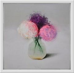 Flores Lilas (Lilacs), still life by Spanish Contemporary Artist Fran Mora
