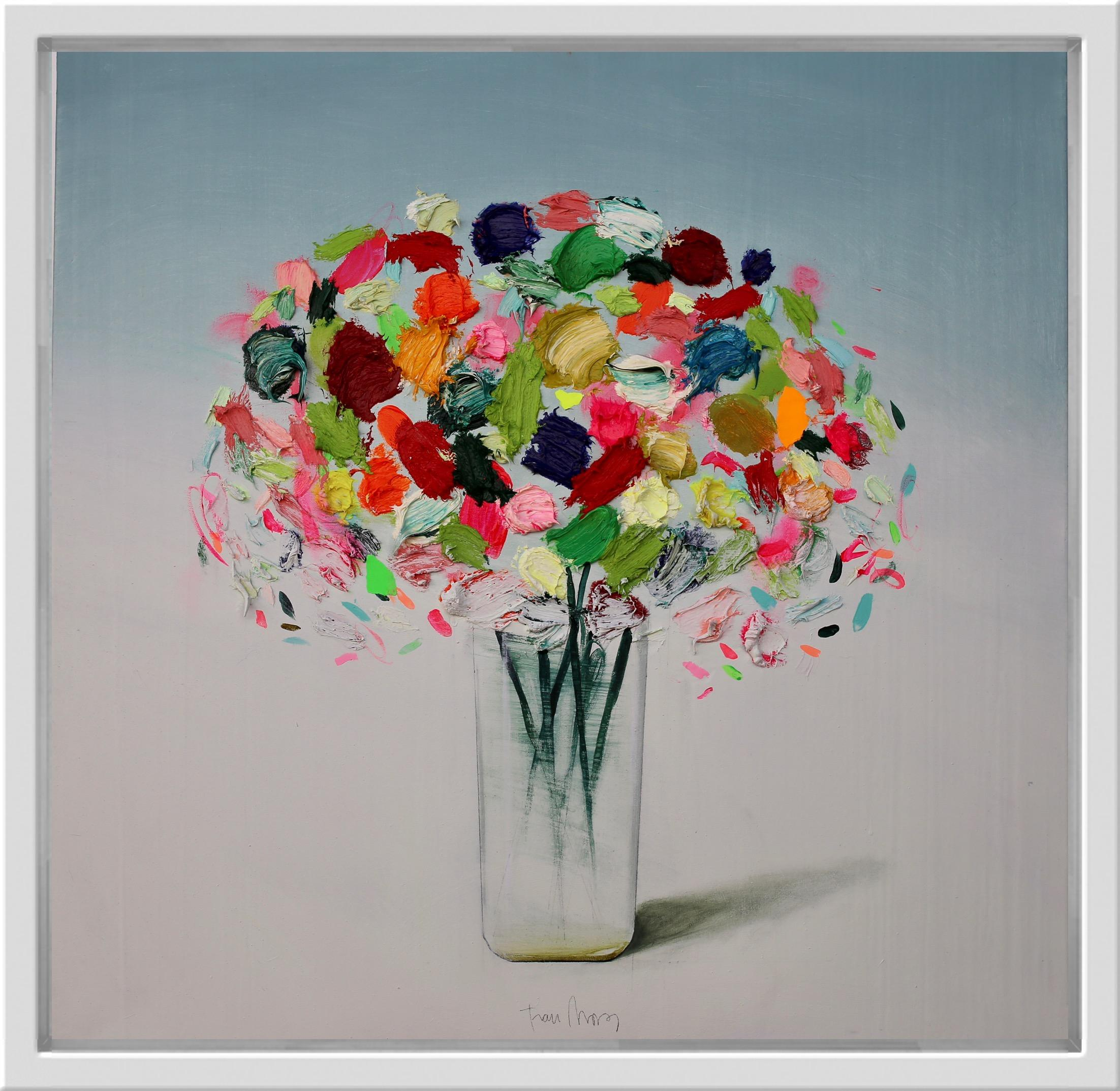 Flores (multi colour), still life by Spanish Contemporary Artist Fran Mora