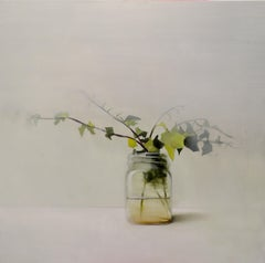 Jar with Ivy , Oil on Canvas by Spanish Contemporary Artist Fran Mora