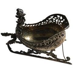 Frankreich 1750 Handgefertigte Silber Schale, Viktorianischer Stil