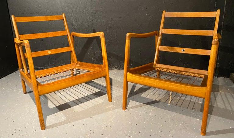 France and Daverkosen Teak Armchairs, Mid-Century Modern For Sale 5