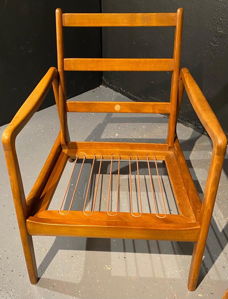 France and Daverkosen Teak Armchairs, Mid-Century Modern For Sale 8