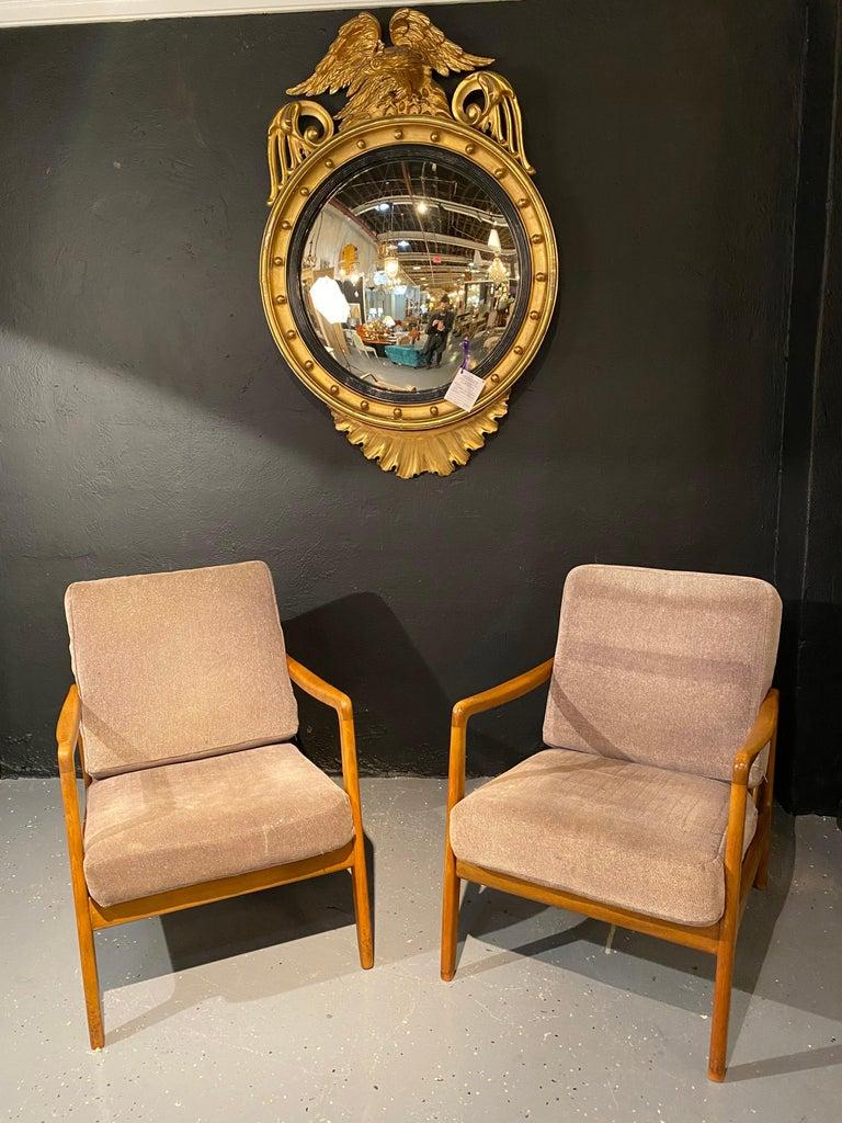 Mid-20th Century France and Daverkosen Teak Armchairs, Mid-Century Modern For Sale