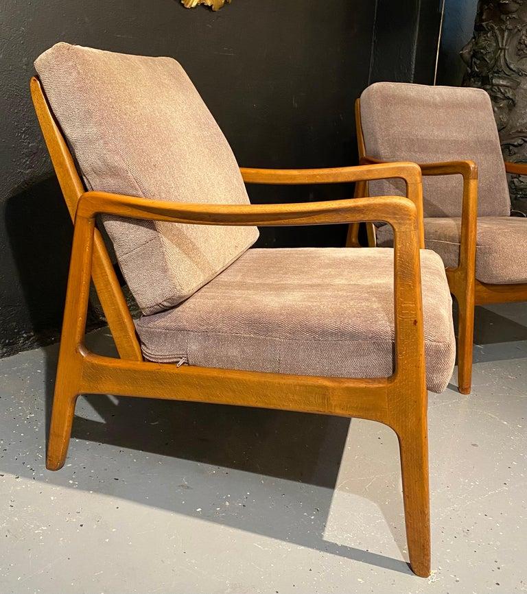 France and Daverkosen Teak Armchairs, Mid-Century Modern For Sale 2