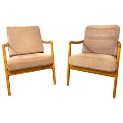 France and Daverkosen Teak Armchairs, Mid-Century Modern